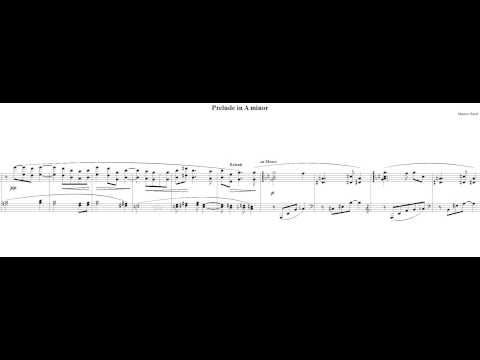 Maurice Ravel - Prelude in A minor (NoteWorthy Composer)