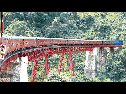 The MOST DANGEROUS & SCENIC Rail Route in North East INDIA