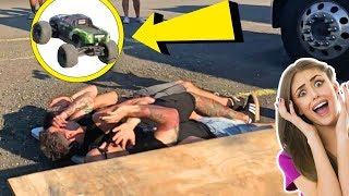 JUMPING RC CARS OVER FAMOUS PEOPLE!