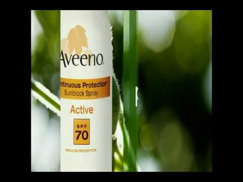 Aveeno Sunblock Commercial May 2009 Video