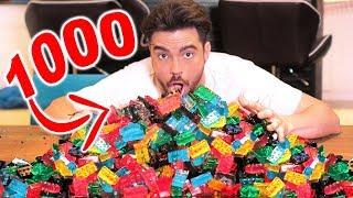 1000 ŻELKOWYCH KLOCKÓW LEGO!