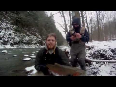 Lake Erie Spring Steelhead Fishing 2013 (18 Mile Creek)