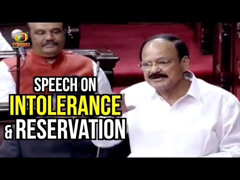 Venkaiah Naidu Speech On Intolerance & Reservation In Rajya Sabha | Parliament