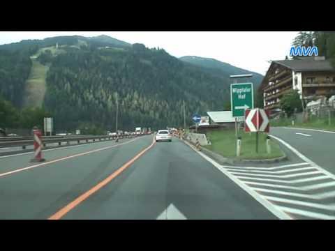 Von Österreich nach Italien  über den Brenner  A13 / A22