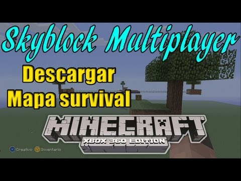 Minecraft Xbox 360 Skyblock Multiplayer Para Xbox 360 Descargar Mapa Survival