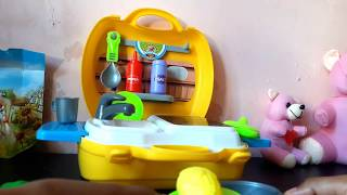 Toy Kitchen Set for Kids - Cutting Velcro Fruit Vegetables Cooking Toys Food