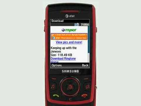Downloading a ringtone to a Samsung phone using Myxer