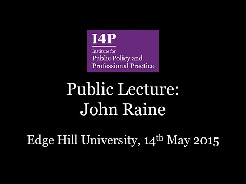 I4P Lecture Series - Prof John Raine: Electocracy with Accountabilities?