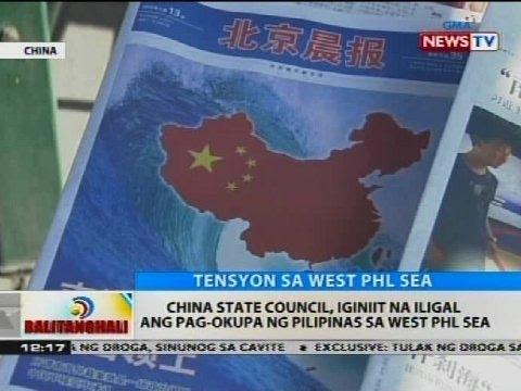 BT: China state council, iginiit na iligal ang pag-okupa ng Pilipinas sa West PHL Sea