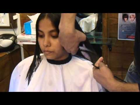Face Framing Layers in Long Hair ( Haircut)