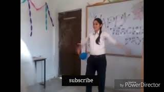 Pakistani college girl dance on college party
