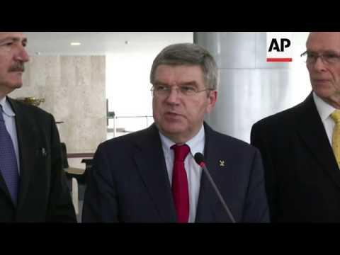 IOC President Bach meets Brazilian President Rousseff