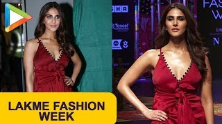 Vaani Kapoor walks the ramp for Shivan & Narresh show at Lakme Fashion Week 2019 Day 4