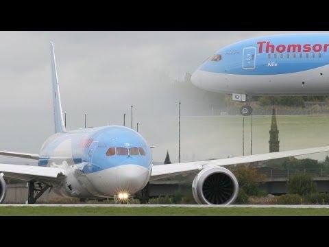 Thomson B787-8 Dreamliner G-TUIB Landing & Takeoff at Glasgow HD