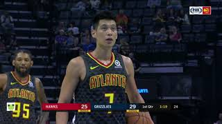 Jeremy Lin's Offense & Defense Highlights 2018-10-06 Hawks VS Grazzlies