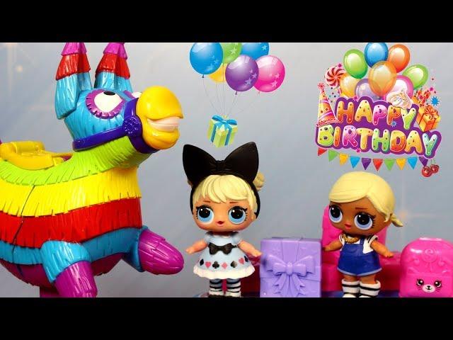 LOL Surprise & Shopkins • Urodziny • Gra w Pinata Party • bajka po polsku