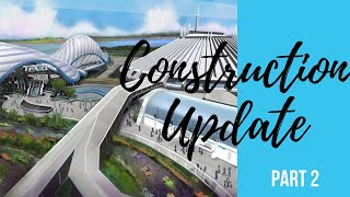 NEW Construction Update Space Mountain Exit and Tron | W5 P2 S3
