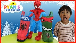 SURPRISE TOYS in Christmas Stocking Spiderman Ninja Turtle Disney Cars Toys Kinder Egg