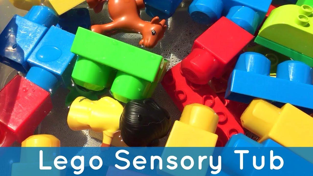 Lego Sensory Tub Preschool And Toddler Activity For