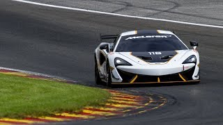 McLaren 570s GT4 / Sprint - fly-by's and downshifts