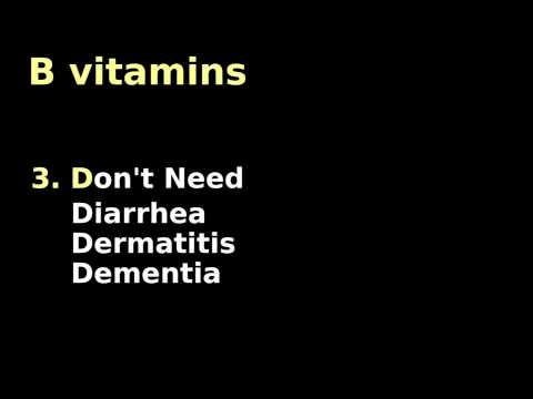 B Vitamins Mnemonic: Metabolic deficiencies- Water and Fat Soluable Cofactors Tutorial