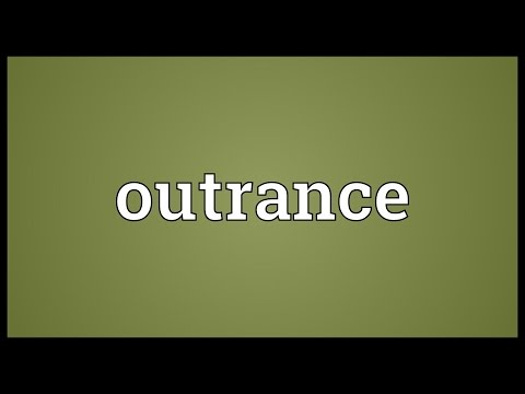 Header of outrance