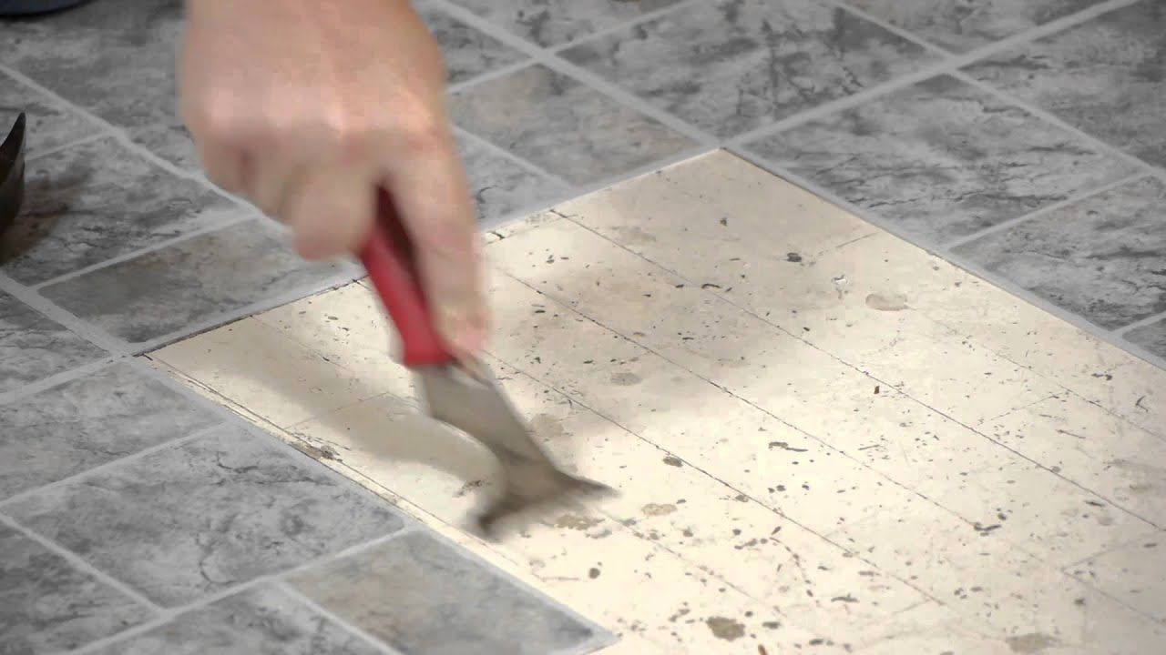 Floor tile glue remover