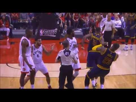 LeBron James Academy Award winning flop against Toronto