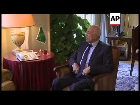 UN/Arab League envoy to Syria meets Arab League officials