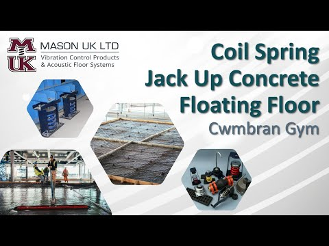 Concrete Floating Floor [Spring System] | MASON UK LTD – Cwmbran Gym (Free Weights Area)