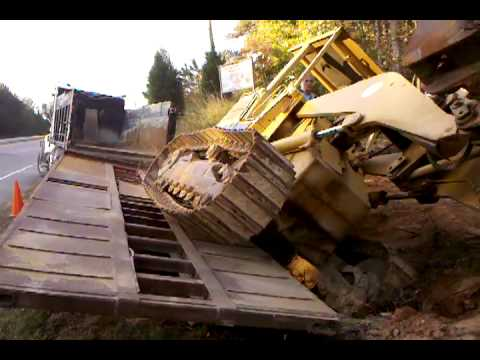 cat 953 track loader unloaded in a snap