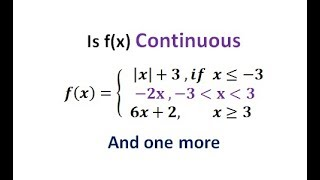 HOW TO CHECK THE CONTINUITY OF  FUNCTION || WHAT IS CONTINUOUS FUNCTION || LIMIT AND CONTINUITY