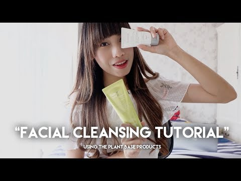 Facial Cleansing Tutorial Using THE PLANT BASE Products - YouTube