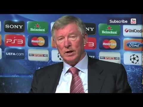 Angry Manchester United manager Sir Alex Ferguson