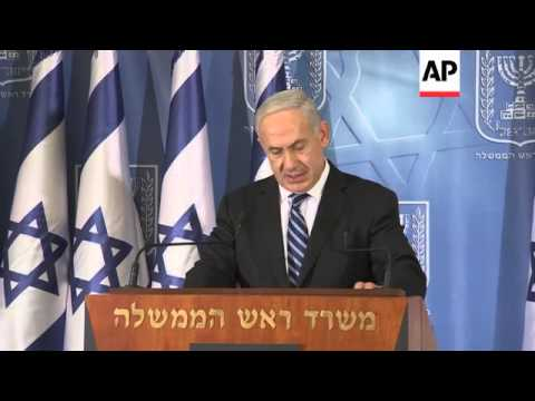 Israeli Prime Minister comments on the Israel assault on Gaza