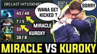 When Kuroky Meets Miracle In Midlane -  Brutal, Savage, Rekt | Pro Gameplay Dota 2
