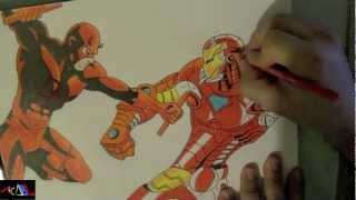 Dibujando a: Daredevil Vs Ironman
