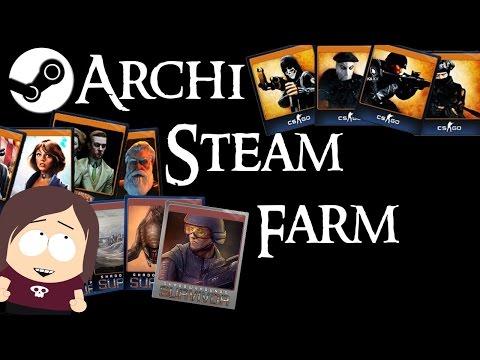 Archi Steam Farm || The Best Steam Trading Card Farmer