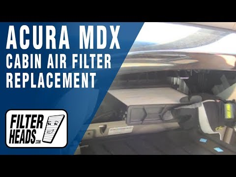 Cabin air filter replacement- Acura MDX