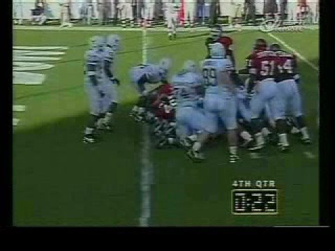 Texas Longhorn Stonie Clark's Big Hit Stops Oklahoma in '94 Video
