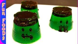 Frankenstein Jell-O Jigglers - Halloween Recipe