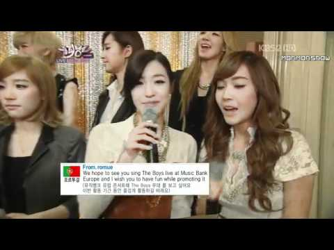 Girls' Generation SNSD Backstage Interview 21 oct 2011