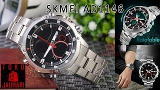 Skmei 1146 Original - Jam Tangan Pria Dual Time Stainless Steel