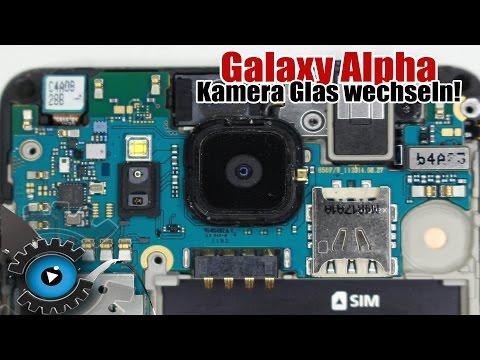 Samsung Galaxy Alpha Kamera Glas Linse Wechseln Tauschen Reparatur [Deutsch/German]