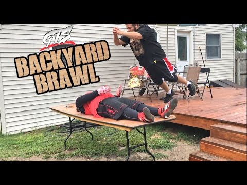 SAMOAN GETS ELECTROCUTED WITH JUMPER CABLES IN INSANE BACKYARD WRESTLING MATCH!