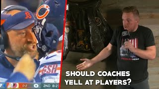 Pat McAfee talks Matt Nagy Yelling at Mitch Trubisky