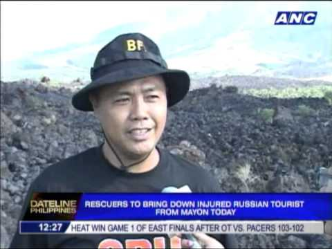 Rescuers to bring down Russian tourist from Mayon today