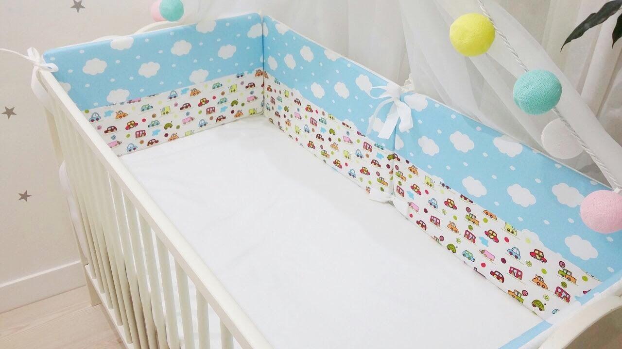 Из чего сшить бортики для детской кроватки своими руками 875