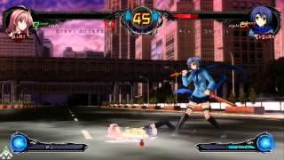 Phantom Breaker Extra - Rimi Vs Yuzuha Online Match 1# - Xbox
