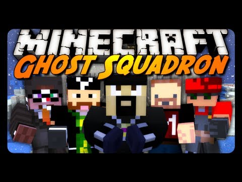 Minecraft Mini-Game: GHOST SQUADRON 1! w/ AntVenom & Friends!